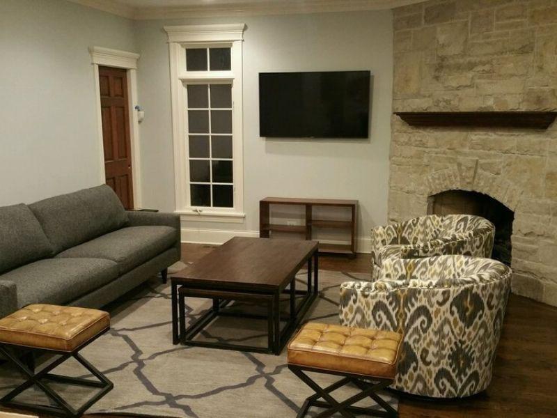 Guest room in basement
